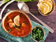 Рецепта Рибена супа от шаран с картофи и домати